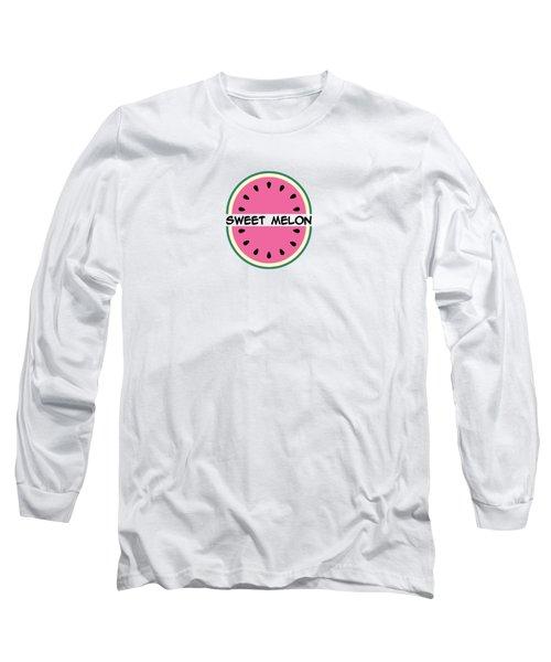 Watermelon Pattern Long Sleeve T-Shirt by Alina Krysko