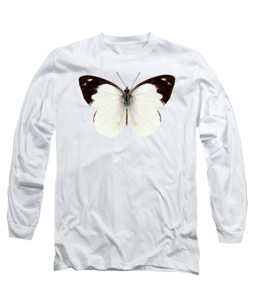White Butterfly Species Apias Indra Indra Long Sleeve T-Shirt