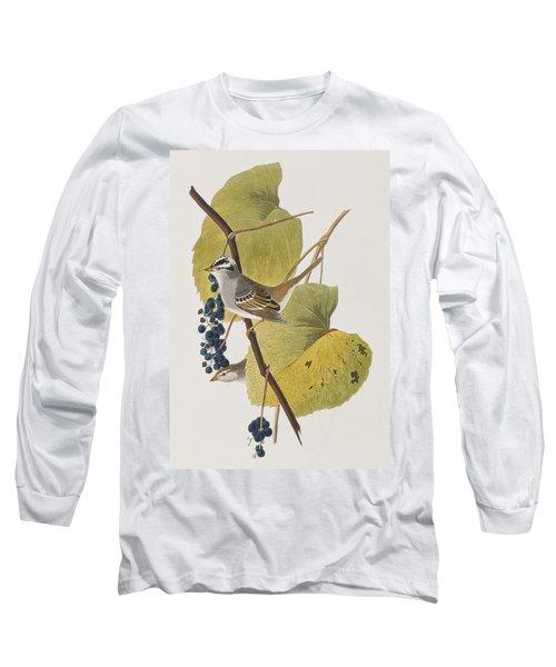 White-crowned Sparrow Long Sleeve T-Shirt by John James Audubon