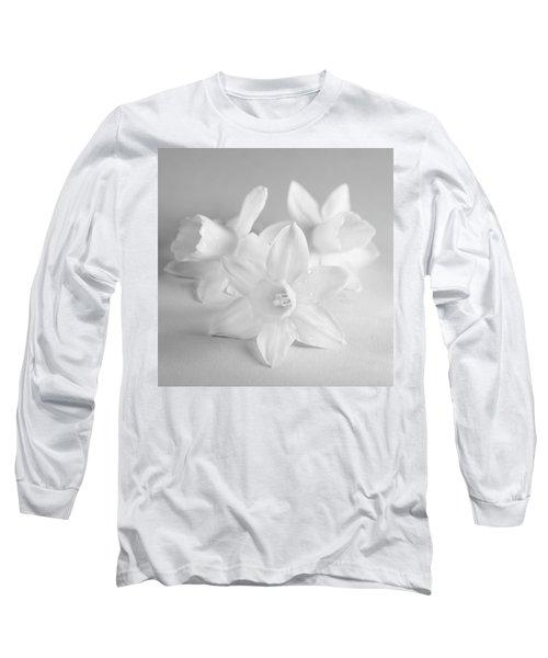 White Mini Narcissus 3 Long Sleeve T-Shirt