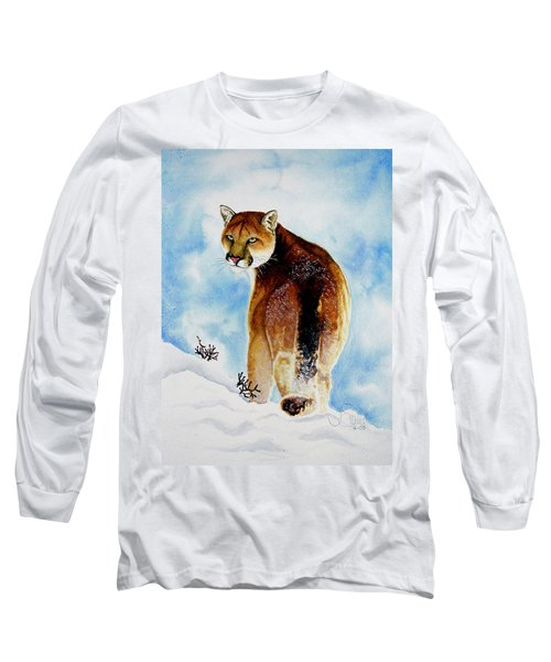 Winter Cougar Long Sleeve T-Shirt