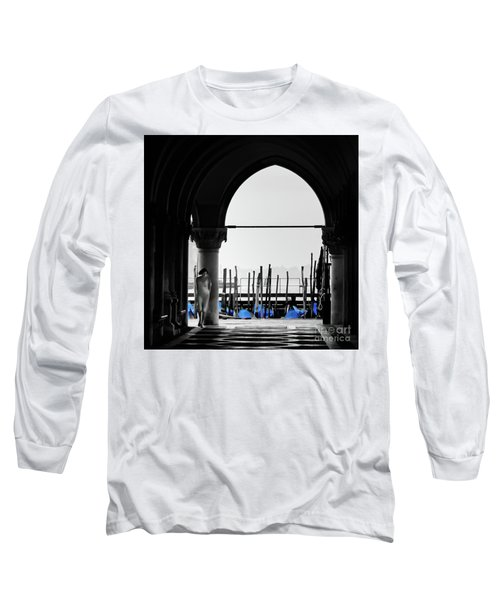 Woman At Doges Palace Long Sleeve T-Shirt