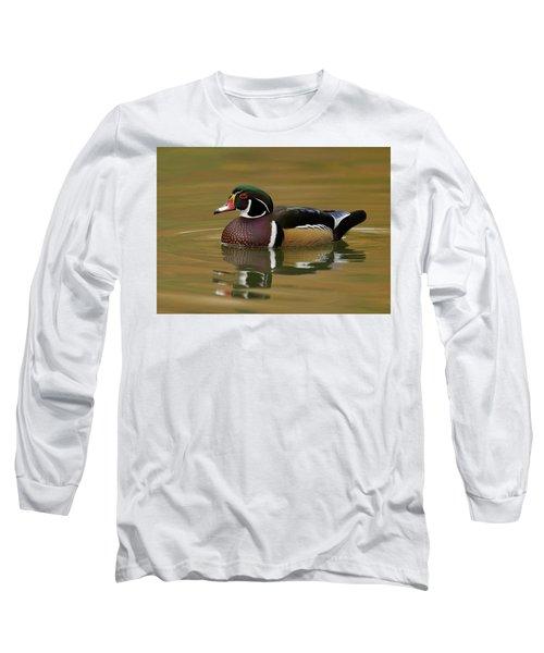 Wood Duck Long Sleeve T-Shirt by Doug Herr