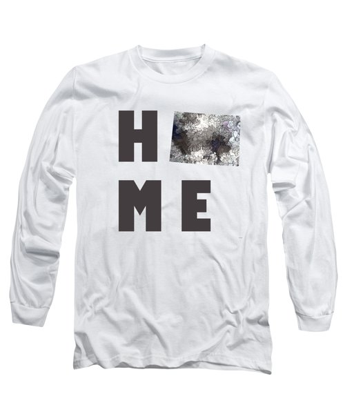 Long Sleeve T-Shirt featuring the digital art Wyoming State Map by Marlene Watson