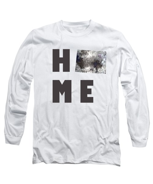 Wyoming State Map Long Sleeve T-Shirt