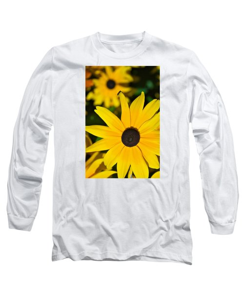 Yellow Flowers Long Sleeve T-Shirt by Bob Pardue