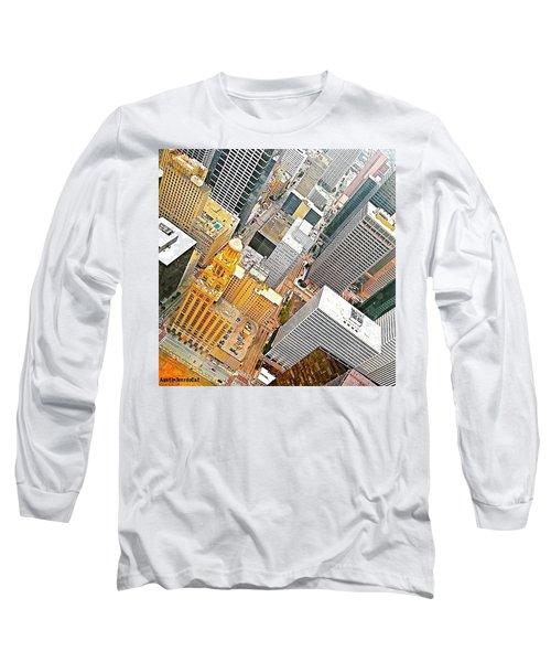 Yesterday's #birdseyeview Of #downtown Long Sleeve T-Shirt
