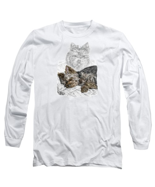 Yorkie - Yorkshire Terrier Dog Print Long Sleeve T-Shirt