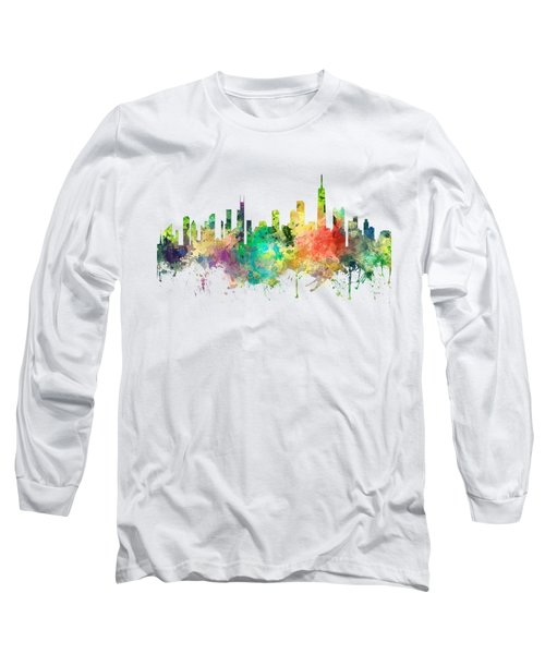 Chicago Illinois Skyline Long Sleeve T-Shirt