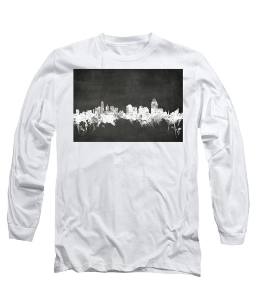 Cincinnati Ohio Skyline Long Sleeve T-Shirt