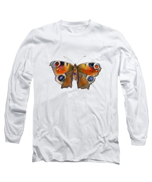 10 Peacock Butterfly Long Sleeve T-Shirt