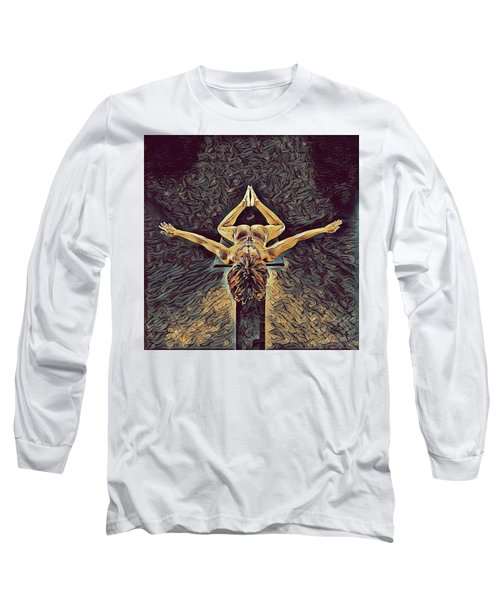 1038s-zac Dancer Flying On Pedestal Nudes In The Style Of Antonio Bravo  Long Sleeve T-Shirt