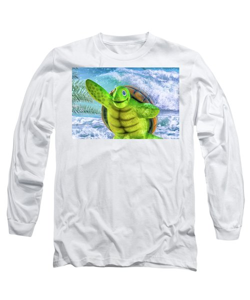 10731 Myrtle The Turtle Long Sleeve T-Shirt by Pamela Williams