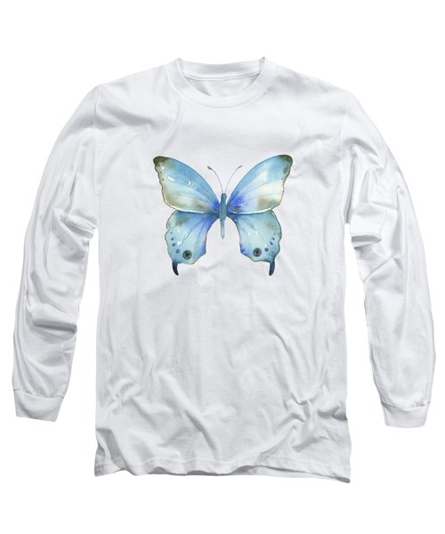 #109 Blue Diana Butterfly Long Sleeve T-Shirt