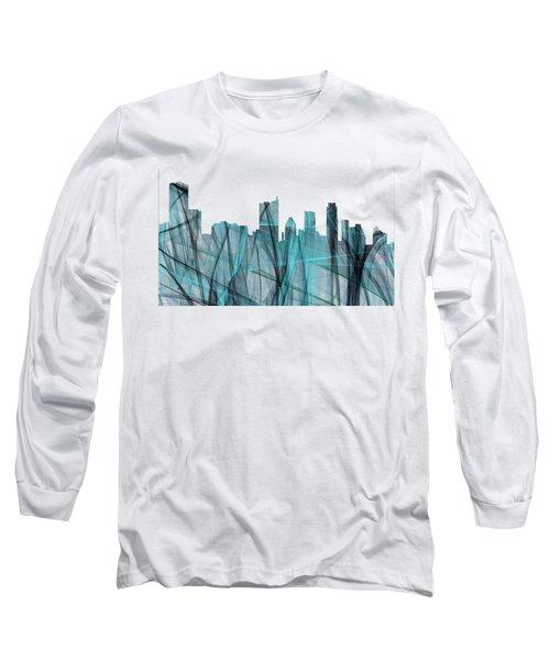Austin Texas Skyline Long Sleeve T-Shirt by Marlene Watson