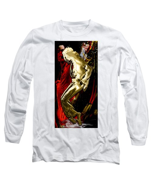 Michael Jackson Collection Long Sleeve T-Shirt by Marvin Blaine