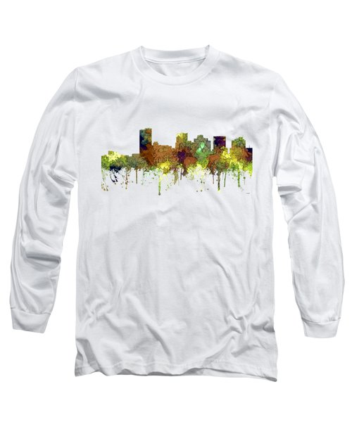 Phoenix Arizona Skyline Long Sleeve T-Shirt by Marlene Watson