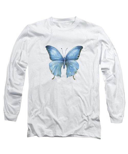 111 Blue Elijah Butterfly Long Sleeve T-Shirt