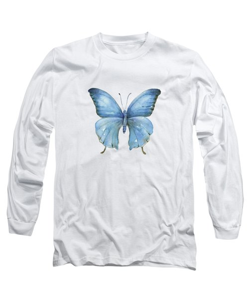 111 Blue Elijah Butterfly Long Sleeve T-Shirt