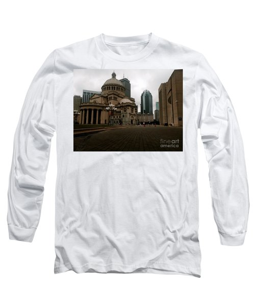 111 Huntington Ave Long Sleeve T-Shirt by KD Johnson