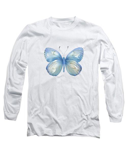 112 Blue Marcia Butterfly Long Sleeve T-Shirt