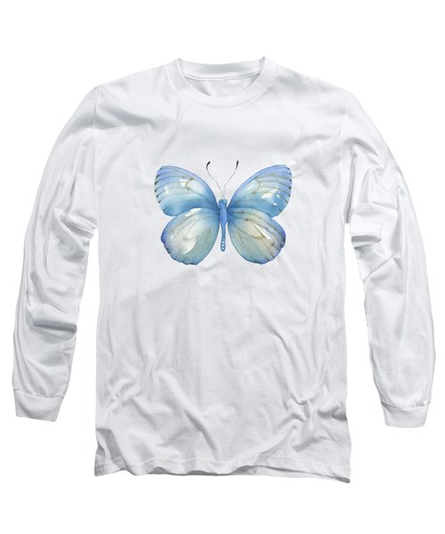 112 Blue Marcia Butterfly Long Sleeve T-Shirt