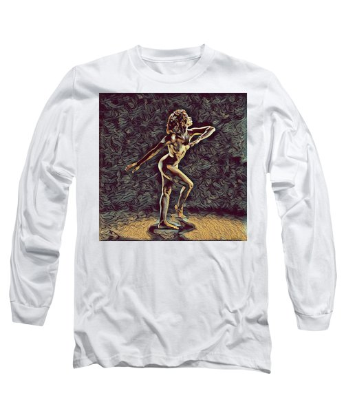 1192s-zac Nudes In The Style Of Antonio Bravo  Long Sleeve T-Shirt by Chris Maher