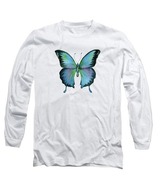 12 Blue Emperor Butterfly Long Sleeve T-Shirt
