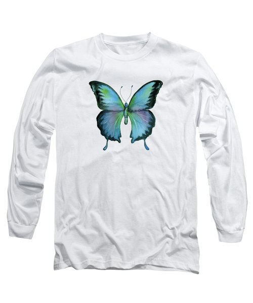 12 Blue Emperor Butterfly Long Sleeve T-Shirt