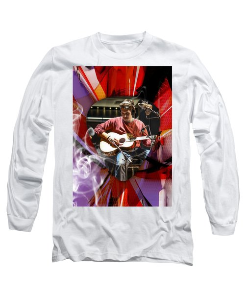 John Mayer Art Long Sleeve T-Shirt by Marvin Blaine