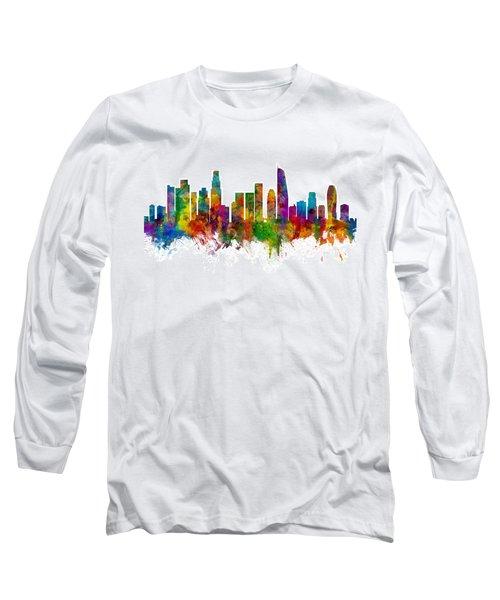 Los Angeles California Skyline Long Sleeve T-Shirt