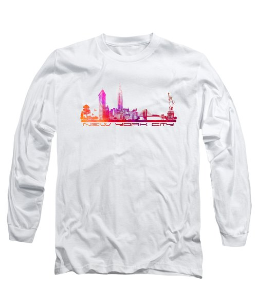 New York City Skyline Long Sleeve T-Shirt