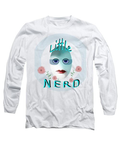 1283 - Little Nerd Tshirt Design Long Sleeve T-Shirt