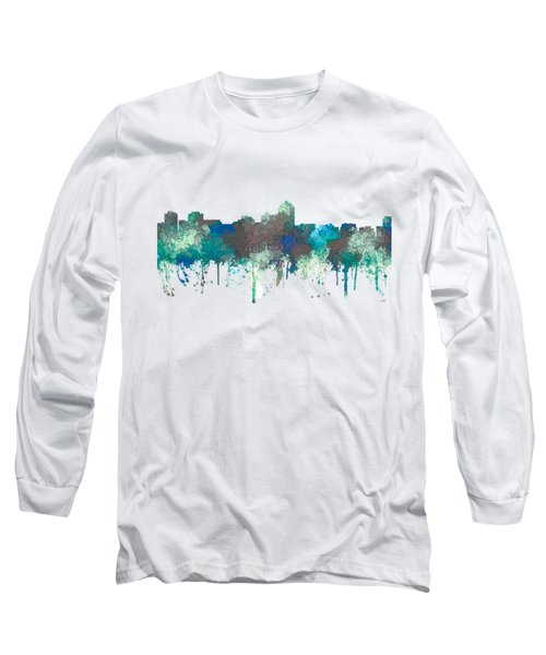 Long Sleeve T-Shirt featuring the digital art Albuquerque New Mexico Skyline by Marlene Watson