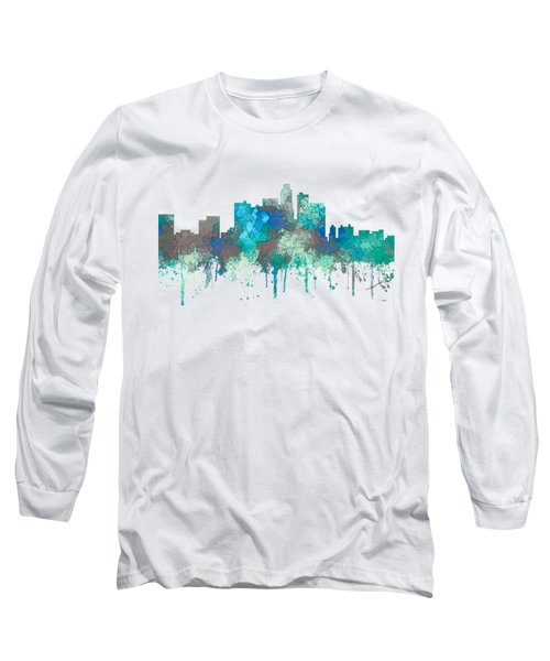 Long Sleeve T-Shirt featuring the digital art Los Angeles California Skyline by Marlene Watson