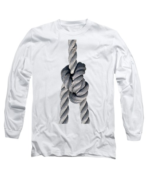 Long Sleeve T-Shirt featuring the photograph Nautical Knots by George Atsametakis