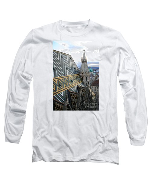 St Stephens Cathedral Vienna Long Sleeve T-Shirt by Angela Rath