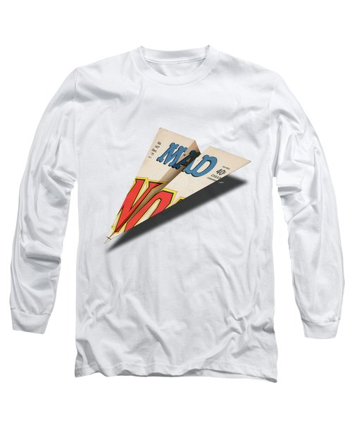 147 Mad Paper Airplane Long Sleeve T-Shirt