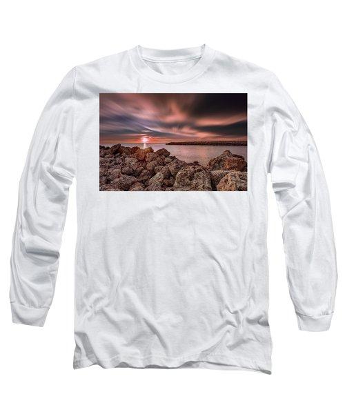Sunst Over The Ocean Long Sleeve T-Shirt