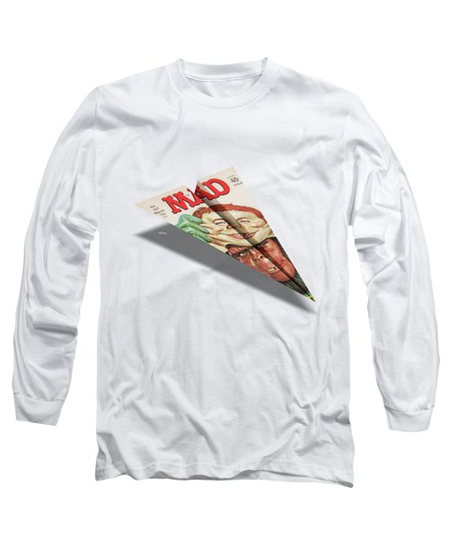 157 Mad Paper Airplane Long Sleeve T-Shirt