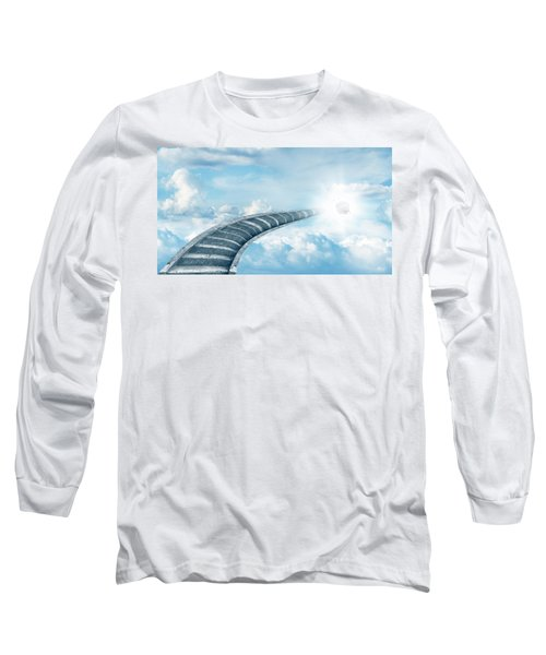 Long Sleeve T-Shirt featuring the digital art Stairway To Heaven by Les Cunliffe