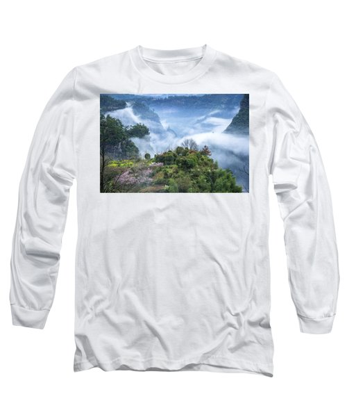 Mountains Scenery In The Mist Long Sleeve T-Shirt