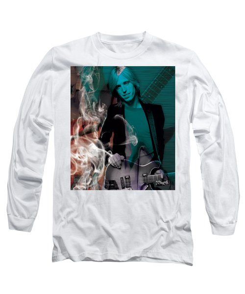 Long Sleeve T-Shirt featuring the mixed media Tom Petty Collection by Marvin Blaine