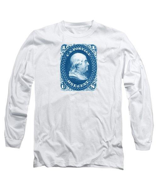1861 Benjamin Franklin Stamp Long Sleeve T-Shirt