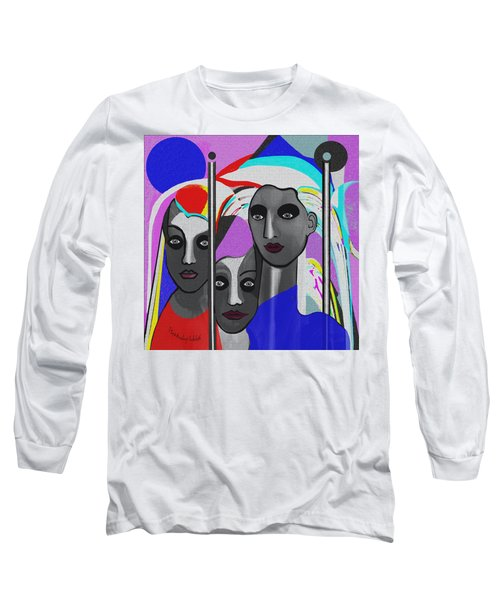 Long Sleeve T-Shirt featuring the digital art 1875 - To Walk Tall by Irmgard Schoendorf Welch