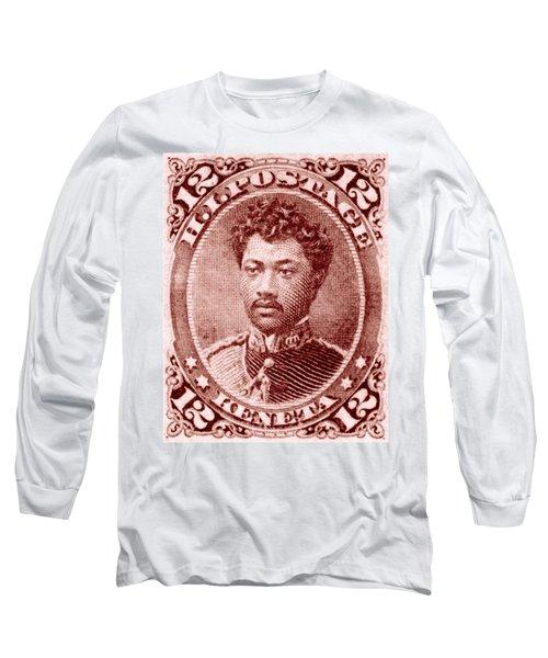 1883 Hawaiian Prince Leleiohoku Stamp Long Sleeve T-Shirt