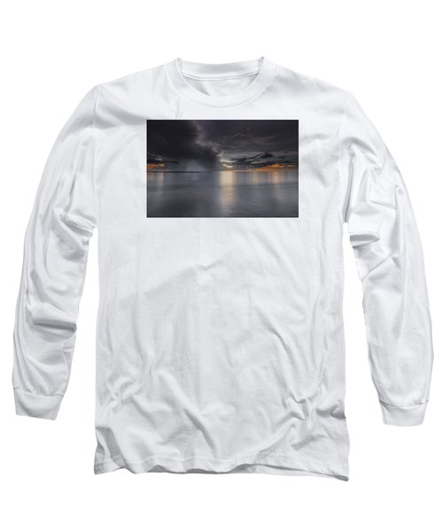 Sunst Over The Ocean Long Sleeve T-Shirt by Peter Lakomy