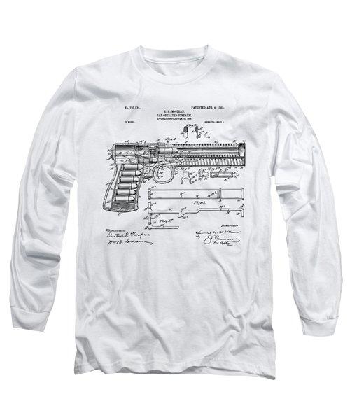 1903 Mcclean Pistol Patent Artwork - Vintage Long Sleeve T-Shirt