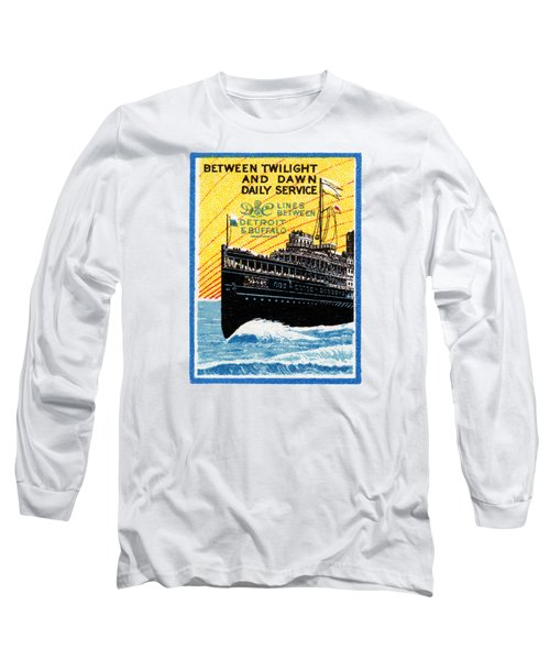 1910 Detroit To Buffalo Steamship Long Sleeve T-Shirt
