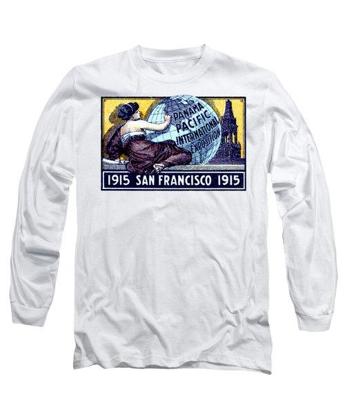 1915 San Francisco Expo Poster Long Sleeve T-Shirt by Historic Image